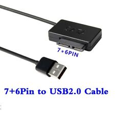 USB to (7+6)13Pin Slim SATA/IDE CD DVD Rom Optical Drive Cable Adapter Converter