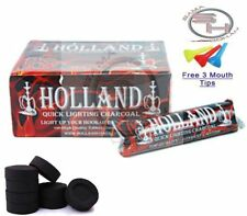 100 Piece Holland Charcoal Fast Easy Quick Light Hookah Coal 10 Roll Incense