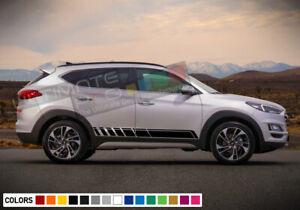 Sticker Decal stripe kit for Hyundai Tucson light racing bonnet skirt head roof