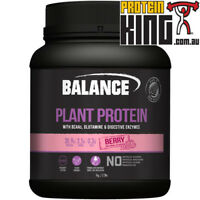 BALANCE PLANT PROTEIN 1KG BERRY NATURAL VEGAN GLUTEN DAIRY SOY FREE BCAA BSC SAN