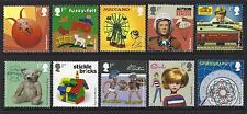 GREAT BRITAIN 2017 CLASSIC TOYS  SET OF 10 SINGLES UNMOUNTED MINT, MNH