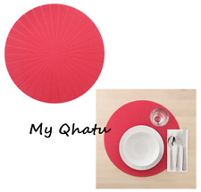 Ikea Place Mat Round Red Kitchen Dining PANNÅ Panna NEW