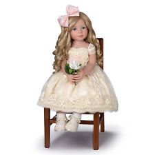 Pearls, Lace, And Grace Beautiful Lifelike Child Doll by Ashton Drake Galleries