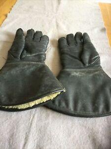 Vintage Waddingtons Aquadore All Hide Leather Motorcycle Gauntlets Gloves