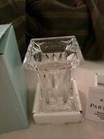PartyLite P7374 Quad Prism Pedestal Fine 24% Lead Crystal Pillar Candle Holder