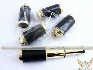 "Gift Set Of 5 6"" Nautical Handheld Pirate Brass Leather Telescope Spyglass Scope"