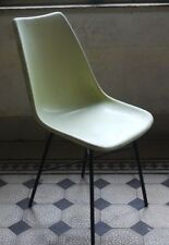 Czechoslovakian vintage fiberglass shell Charles Eames style chair by KVZ Semily