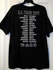 Led Zeppelin Rock Concert United States of America US Tour 1977 Cities Shirt~XL