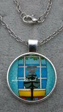 Beautiful Kittens Square Glass Dome Pendant Silver Colour Necklace /& Chain