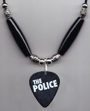 The Police Black Guitar Pick Necklace
