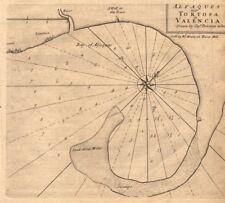 Alfaques near Tortosa in Valencia. Vinaros Alfacs Bay DOLEMAN sea chart 1747 map