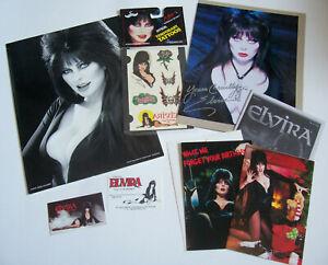 ELVIRA Mistress of the Dark Fan Club Folder Kit from the year 2000 Autographed