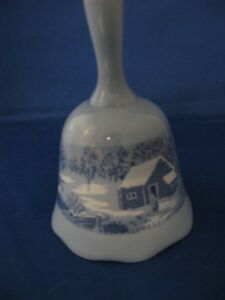 Currier and Ives Bell A Home in the Wilderness