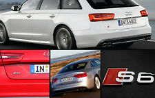 Audi car styling chrome metal S6 emblem sticker decal auto rear badge