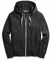 Goodthreads Men's French Terry Full-Zip Hoodie, Black, Large, Black, Size Large