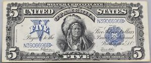 "$5 Silver Certificate ""Chief"" Series 1899"