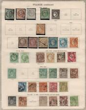 FRANCE: 1870-1903 Examples - Ex-Old Time Collection - 2 Sides Album Page (35759)