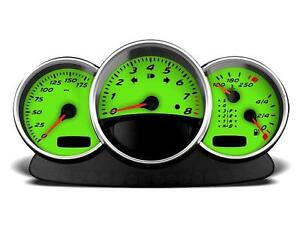Yellow Green Gauge Face Color Change for Style 2 - Addon (S2-42)