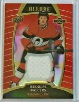 Rudolfs Balcers *Red Rainbow* rookie jersey 2019-20 Upper Deck Allure🏒 Senators