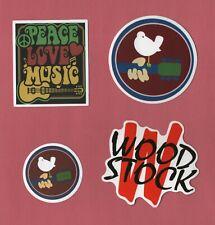 WOODSTOCK FESTIVAL Sticker CLASSIC ROCK singer SONGWRITER Guitar PSYCHEDELIC