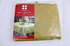 Gold Round Tablecloth Damask 70 inches Round Essential Home Holiday Christmas