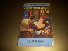 APPOINTMENT WITH FEAR by Donald Stokes, Signet Book #873, 1st Print, 1951, PB!