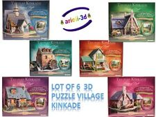 LOT 6 PUZZLE THOMAS KINKADE VILLAGE 27-51 PCS NEW WREBBIT PUZZ 3D SEALED RARE