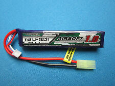 TURNIGY NANO-TECH 1000MAH 3S 11.1V 20-40C LIPO BATTERY AIRSOFT MINI TAMIYA MOLEX