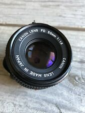 Canon FD Mount Lens f/1.8 50mm with Caps AE-1 AE-1P ~Near Mint~