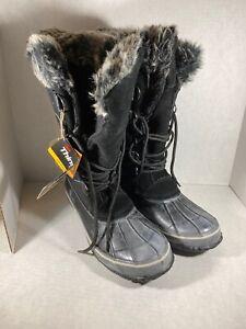 Womens Northside Black Boots Size 10 (dm2)