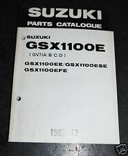 9900B-30033 SUZUKI catalogo ricambi e GSX1100E E SE FE GV71A B C D