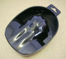 "Manicure Nail soaking Bowl plastic 6"" long 2-bowls (Black)"