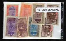 Haut Sénégal et Niger 10 timbres différents
