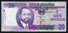 Mozambique 20 meticais 2006.06.16. Samora Moises Machel P143 UNC