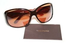 TOM FORD TF 46 T35 ISABELLA HAVANA BROWN AUTHENTIC SUNGLASSES 64-14 MM ITALY