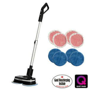 AirCraft PowerGlide Cordless Hard Floor Cleaner & Polisher Black + Extra Set of