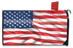 American Flag Waving Large Mailbox Cover Patriotic USA Oversized