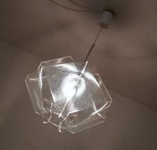 Paul Secon Nylon Plexiglas Fadenlampe Pendelleuchte Decken Lampe Vintage 70er J.