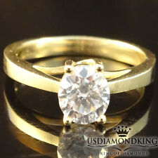 1/2 ct 6mm Round Cut Solitaire Engagement Wedding Ring Solid 10k Yellow Gold New
