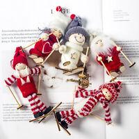 Fj- Natale Neve Sci Pupazzo di Filato Bambole Albero Finestra Vetrina Custodia D