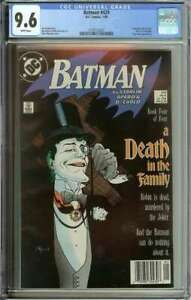BATMAN #429 CGC 9.6 WHITE PAGES // A DEATH IN THE FAMILY PART 4