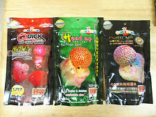 SET 3x100G OF OKIKO FLOWERHORN CICHLID FISH SET OF PLATINUM QUICK RED & HEAD UP