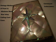 Vintage Mother of Pearl & Albalone Shell Star Calling Card Case.AH1368.