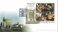 Edición limitada de 2017 Castillo de Windsor stampex sobreimpresión primer día cubierta 2193 de 60