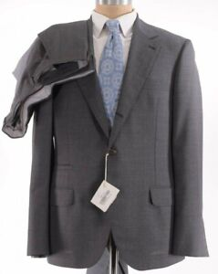 Brunello Cucinelli NWT Suit Size 42R In Solid Gray Wool $3,995