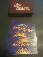 Vtg 1992 Milton Bradley Ask Zandar Board Game Cards Only Fortune Telling