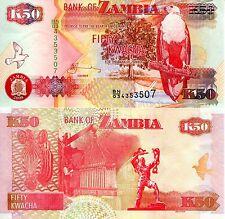 ZAMBIA 50 Kwacha Banknote World Paper Money UNC Currency Pick P37g Bird Eagle