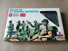"Esci 202 - 1/72 WW2 US Soldiers ""Big Red One"" x 50 - Complete Set in Box"