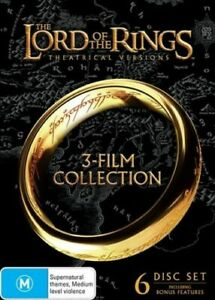 The Lord of the Rings 3 Film Collection BRAND NEW Region 4 DVD