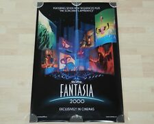 ORIGINAL MOVIE POSTER FANTASIA 2000 1999 IMAX UNFOLDED DOUBLE-SIDED ONE-SHEET